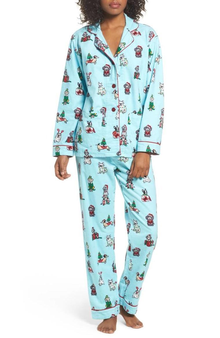 Print Flannel Pajamas by PJ SALVAGE