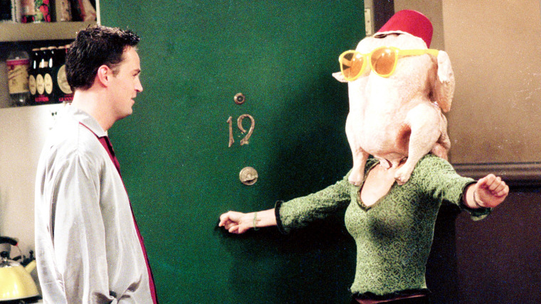 FRIENDS, Matthew Perry, Courteney Cox, 'The One With The Thanksgiving Flashbacks (a.k.a. The One Wit