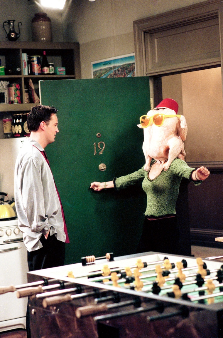 FRIENDS, Matthew Perry, Courteney Cox, 'The One With The Thanksgiving Flashbacks