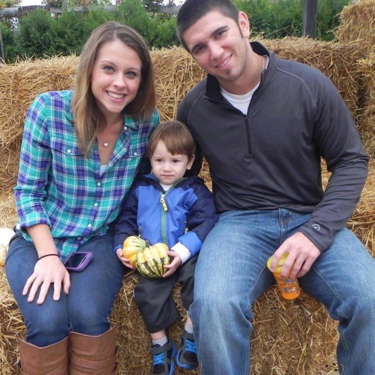 Katie and Jeremy Musser with Landon.