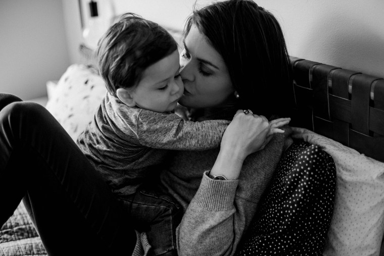 Sara Chivers and her 18-month-old son, Alfie, have brain cancer