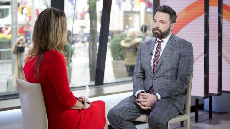 Actor Ben Affleck talks with Savannah Guthrie on TODAY.