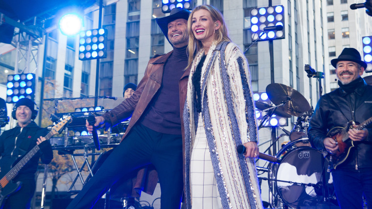 Tim Mcgraw and Faith Hill on TODAY, November 17th, 2017.