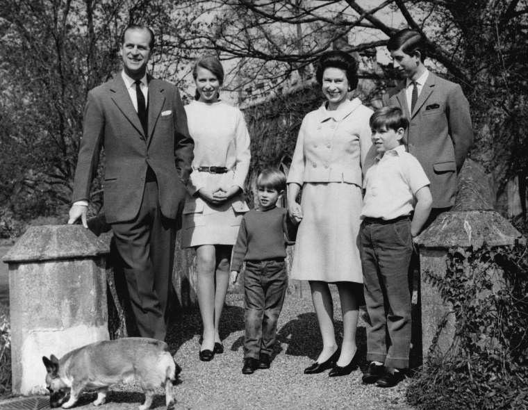 The Royal family gets together at Frogmore, Windsor, England in April 1968, to celebrate the 42nd birthday of England's Queen Elizabeth II, the Duke of Edinburgh, her husband, Princess Ann, Price Edward, The Queen , Prince Andrew and Prince Charles of Wales. (AP Photo)