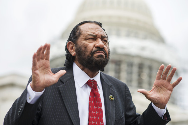 Image: Rep. Al Green, D-Texas, attends a demonstration on the East Front of the Capitol