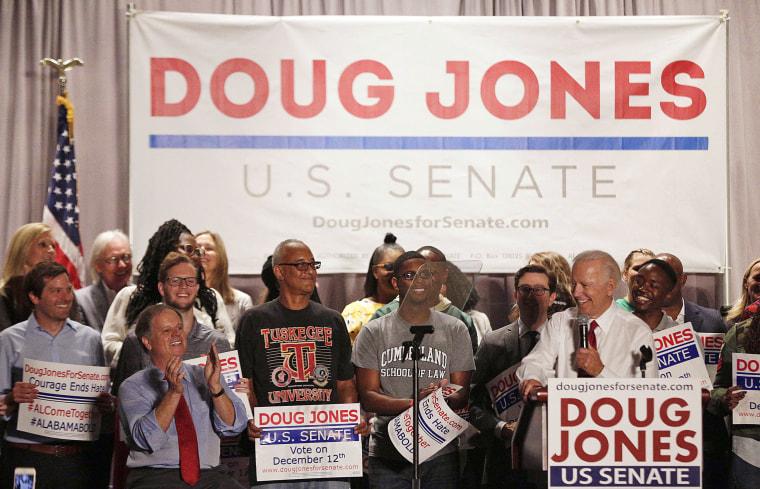 Image: Joe Biden, Doug Jones