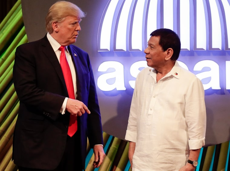 Image: Donald Trump and Rodrigo Duterte