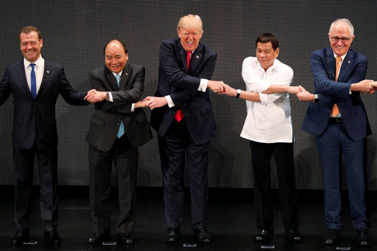 Image: Trump takes part in the ASEAN summit in Manila, Philippines.