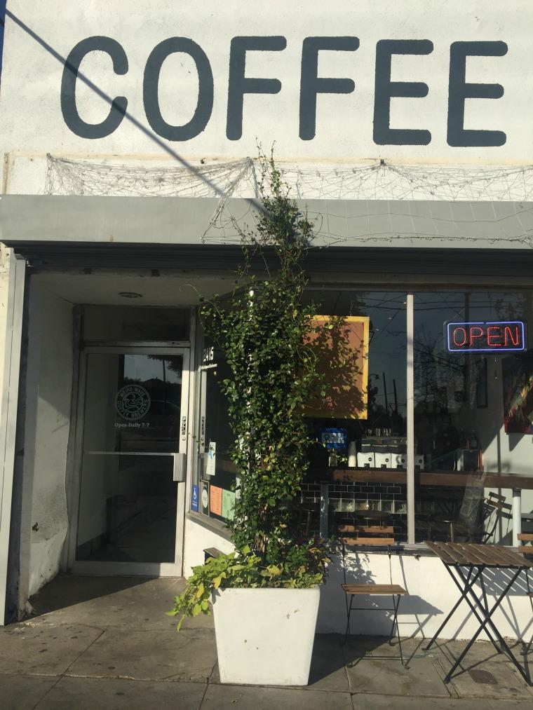 The Weird Wave Coffee Shop in the neighborhood of the predominantly Latino neighborhood of Boyle Heights, in Los Angeles.