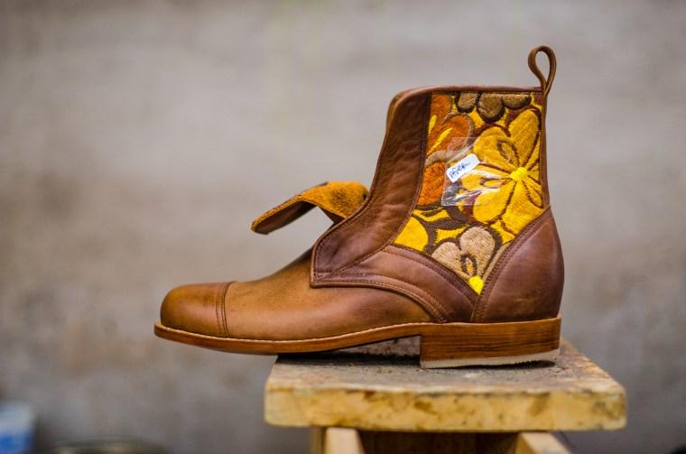 A custom made artisan boot.