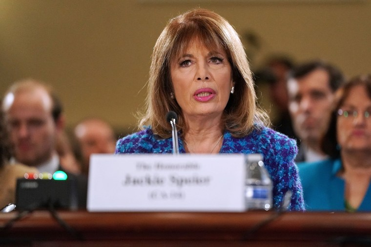 Image: Rep. Jackie Speier D-Calif., testifies before the House Administration Committee in the Longworth House Office Building on Capitol Hill