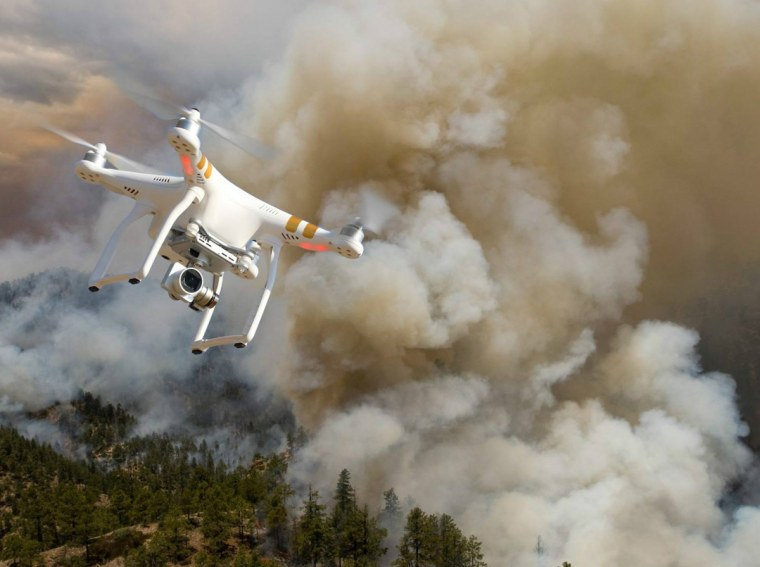 Image: Drone and wildfire