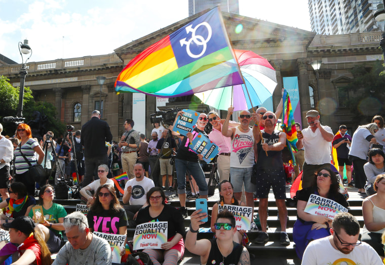 Image: Same Sex Marriage vote, Melbourne
