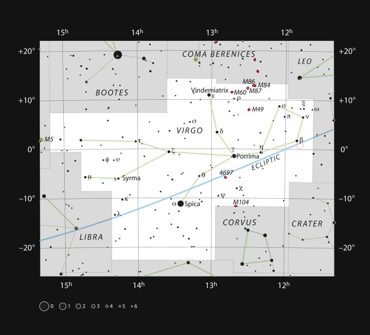 Image: Ross 128, Virgo Constellation