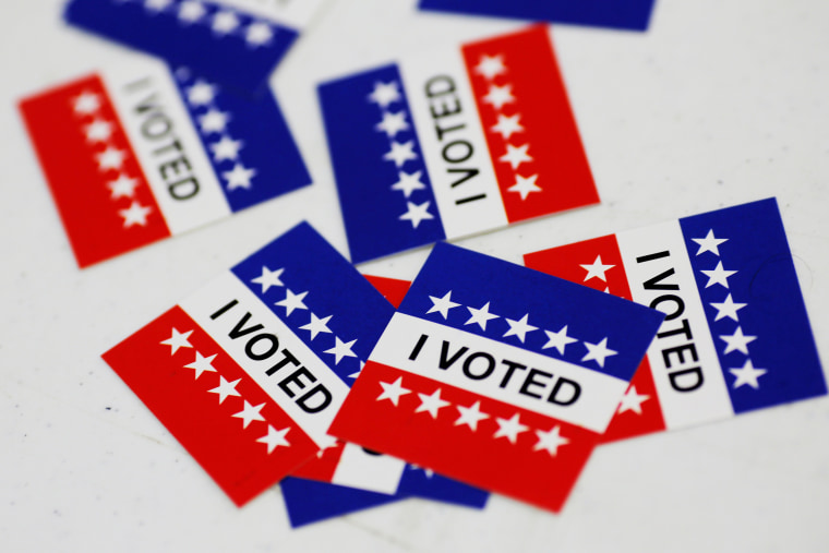 "Image: ""I Voted"" stickers on election day"