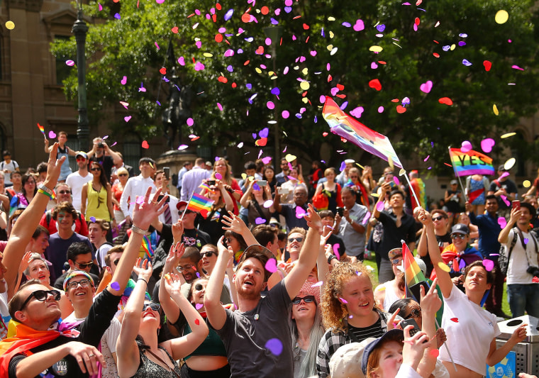 Image: Australians Gather To Hear Result Of Marriage Equality Survey