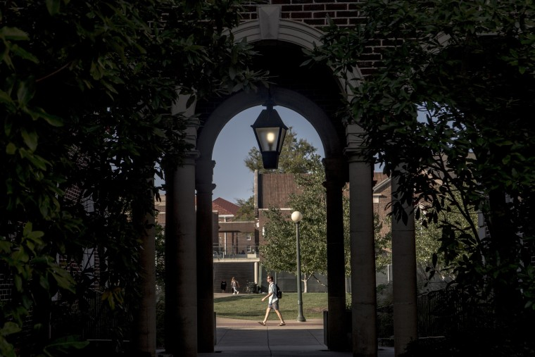 Image: A scene on campus at the University of Mississippi.