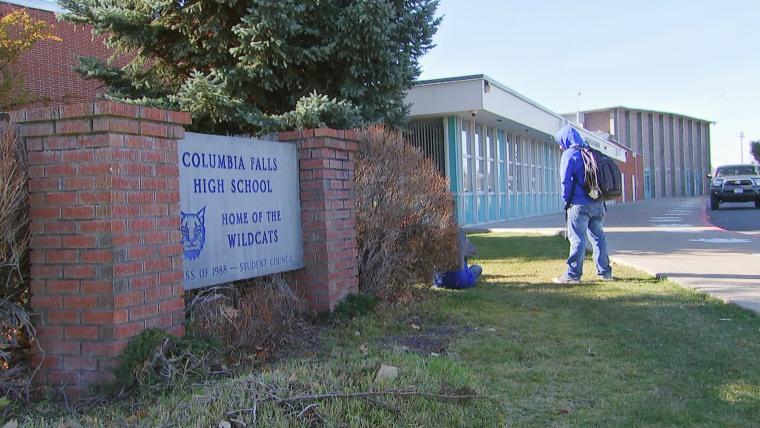 Imaeg: Columbia Falls High School in Columbia Falls, Montana, one of the hacked schools.