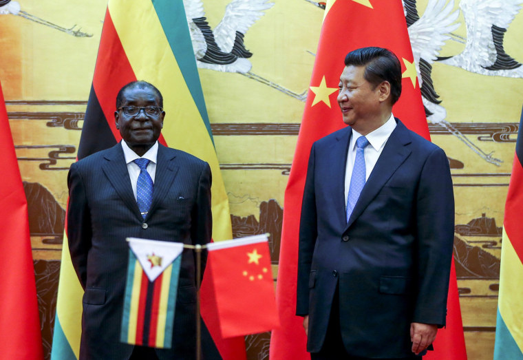 Image: Zimbabwean President Robert Mugabe Visits China