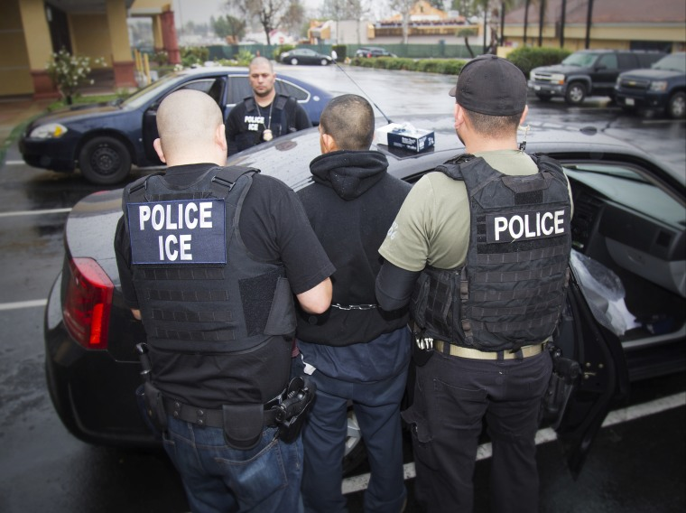 Image: Foreign nationals being arrested during a targeted enforcement operation