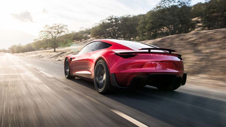 """The Tesla Roadster will hit 100 miles per hour in 4.2 seconds and top out """"above 250 mph,"""" according to CEO Elon Musk."""