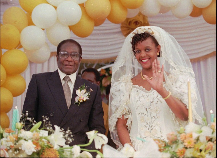 Image: The wedding of Grace and Robert Mugabe