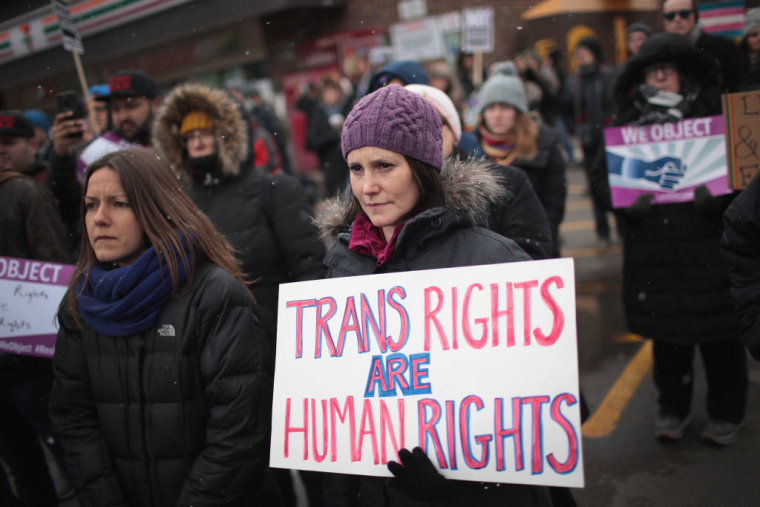 Activists Demonstrate For Transgender Rights