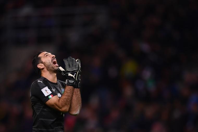 Image: Italy's goalkeeper Gianluigi Buffon