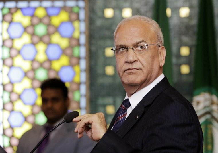 Image: Palestinian negotiator, Saeb Erekat