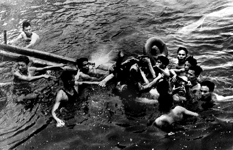 Image: On Oct. 26, 1967 Lieutenant Commander John McCain was rescued