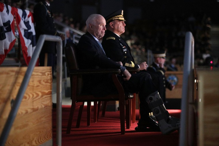 Image: U.S. Military Holds Special Twilight Tattoo Performance In Honor Of John McCain