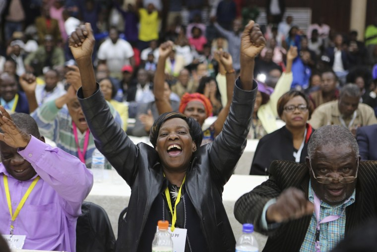 Image: Members of the Zanu-PF Central Committee