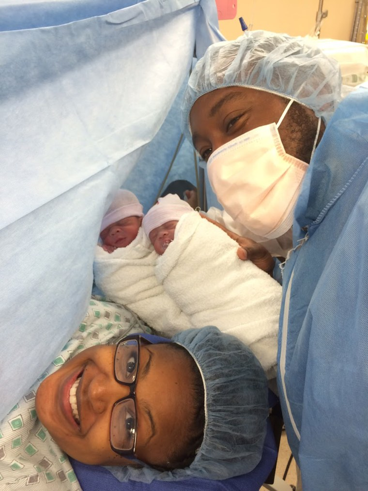 After having a son, Nia Tolbert learned she was having twins during her second pregnancy. In August, she learned that she was having triplets for her third pregnancy.