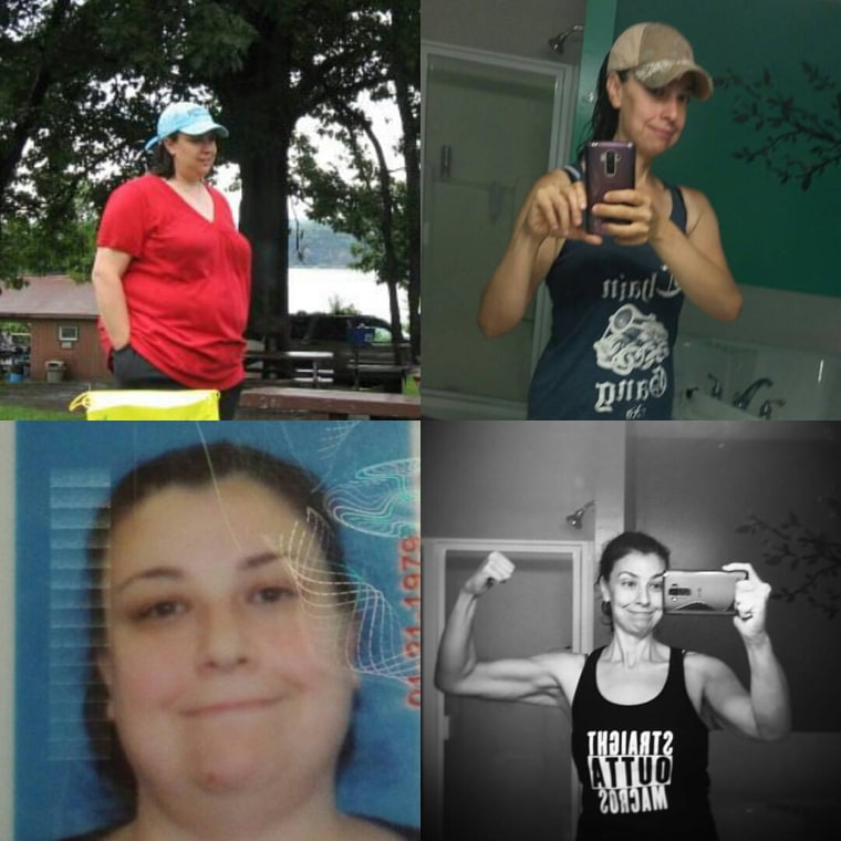 In five years, Emily Puglielli lost half her weight and is happy weighing 150 pounds.