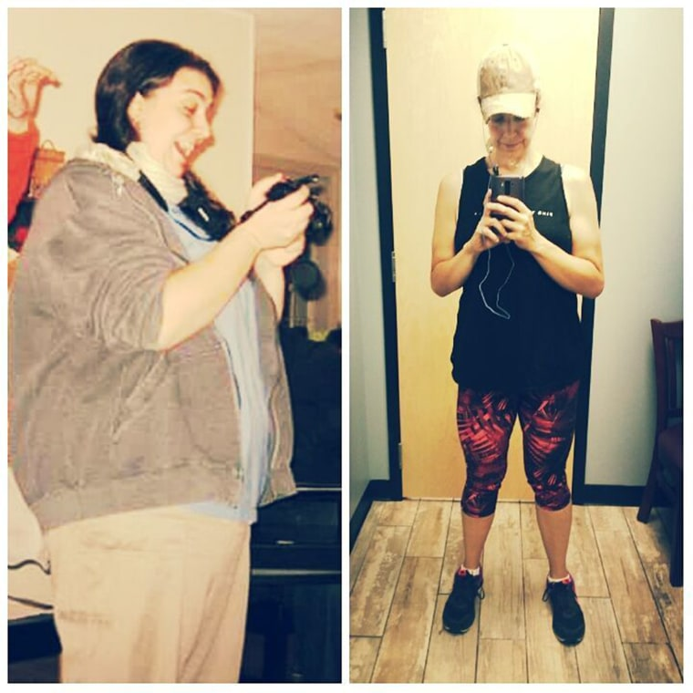 After cutting carbs and walking, Emily Puglielli lost 102 pounds. It took her several more years to get to her goal weight of 150 pounds.