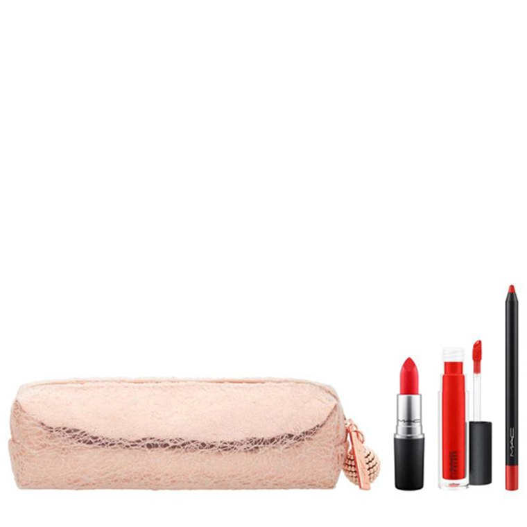 MAC Snow Ball Red Lip Bag