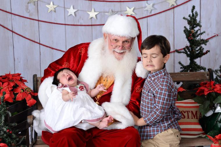 Melissa Solevilla says when her daughter, Reagan, met Santa, she immediately began crying.