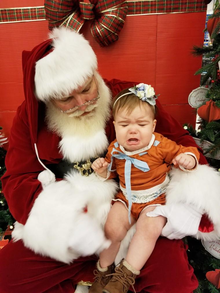 Tracey Boren's daughter, Grace, was not a fan of Santa.