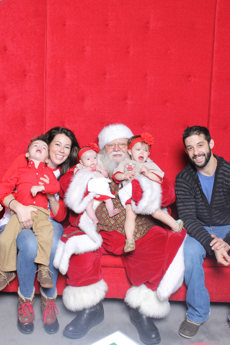 Mandy Ori's kids were displeased by their interaction with Santa.