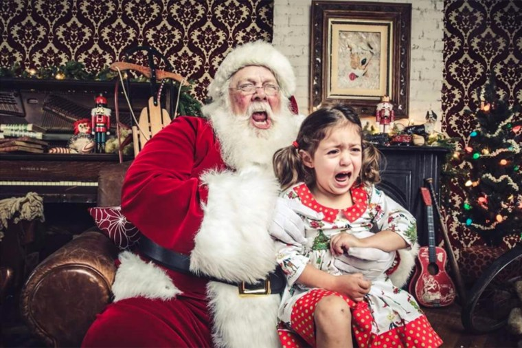 Even Santa was sad in this photo sent in by Ruzin Cunningham.