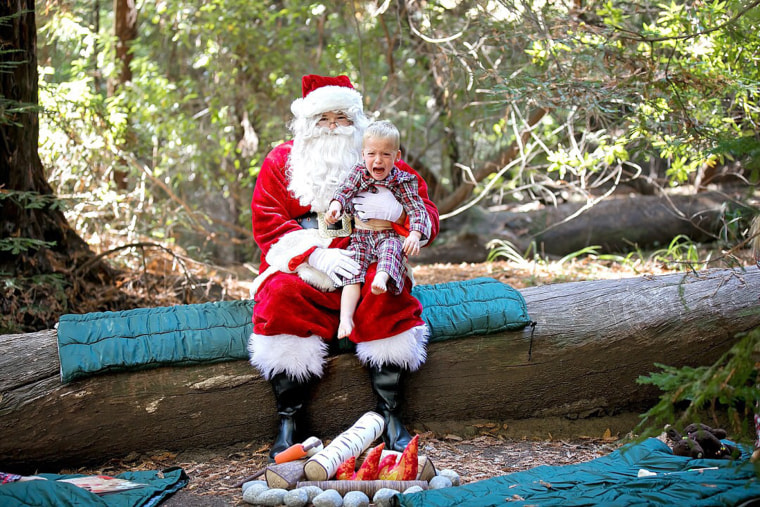 Marianne Wallace's son was not interested in a fireside chat with Santa.