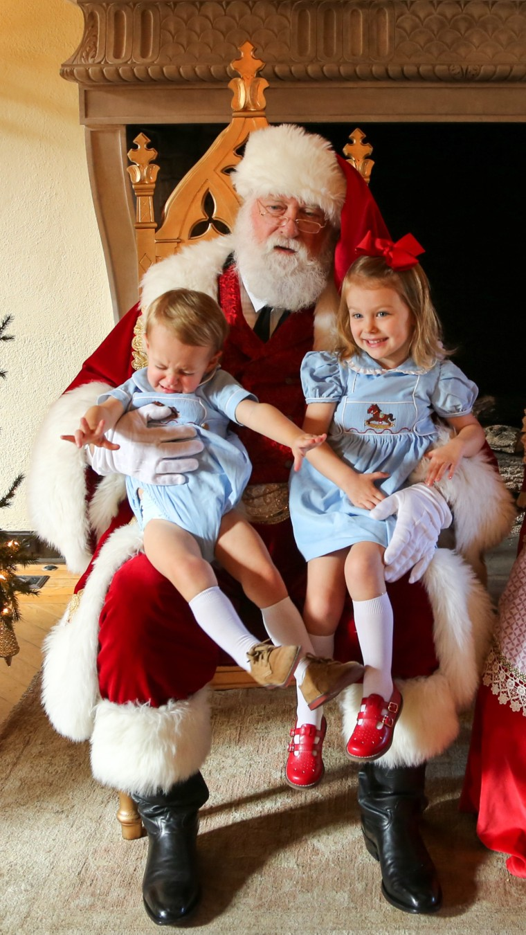 """Aletha Mann says when it comes to kids and Santa, she has \""""one who loves Santa and one who couldn't run away fast enough.\"""""""