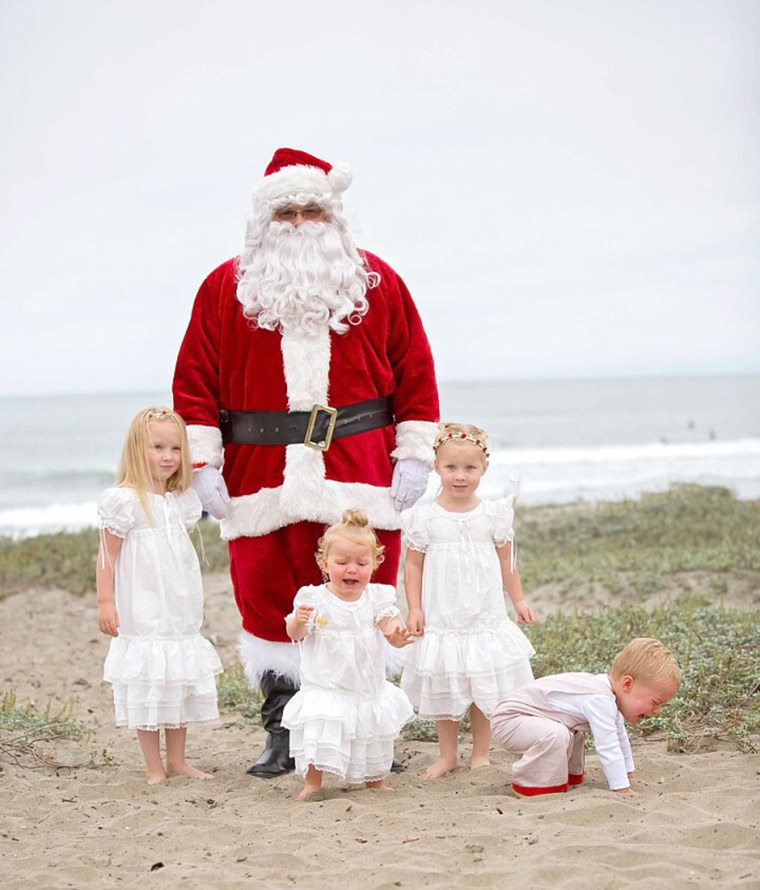 Marianne Wallace says both of her twins, Lucy and Cole, hate Santa.