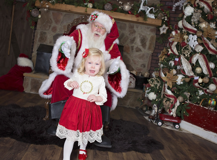 Shandi Soles daughter, Macie, ran away from Santa and refused to sit on his lap.