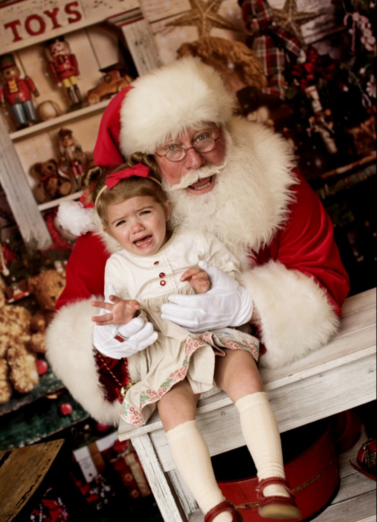 Nicole Jennings' daughter, Bella, 2, has never been a fan of Santa. This year was no exception.