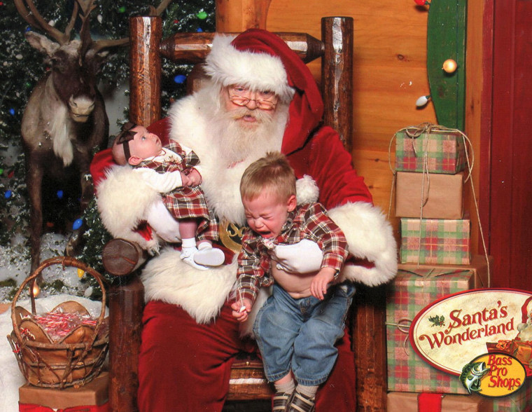 ""\""""Our Santa experience wasn't ideal,"""" said Laurie DeEsch. """"I'm pretty sure my newborn was terrified, based on the look on her face, and my 18-month-old son wanted nothing to do with the bearded stranger.""""""760|588|?|en|2|ac3e238baeb3b7bf5fef0a30f58d2f5a|False|UNLIKELY|0.3682183027267456