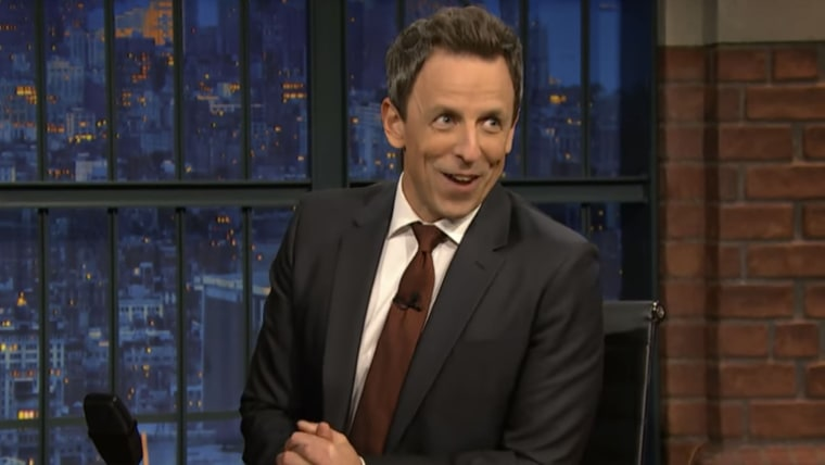 Seth Meyers announces on Thursday's episode of his show that he's expecting a second baby with wife, Alexi.