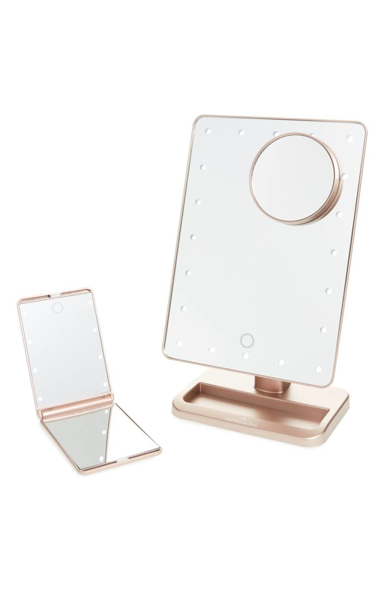 Impressions Vanity Co. Touch XL Dimmable LED Makeup Mirror with Removable 5x Mirror & Compact Mirror