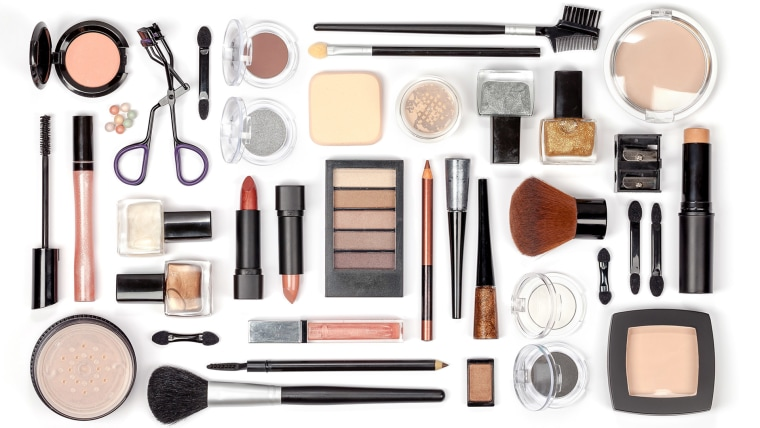 makeup cosmetics and brushes on white background ; Shutterstock ID 346122032; Purchase Order: -