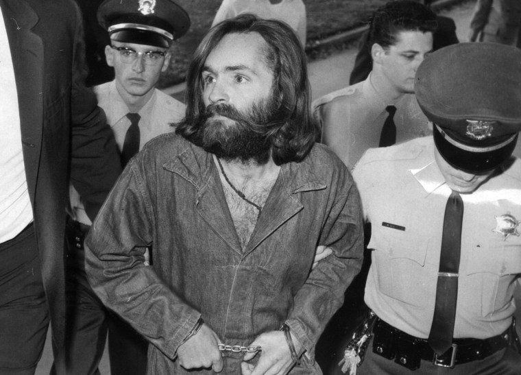 Image: Charles Manson is escorted to court for preliminary hearing on Dec. 3, 1969 in Los Angeles, California.